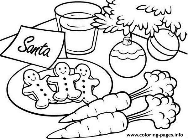 Print Christmas S For Kids Gingerbread Santa2fb2 Coloring Pages