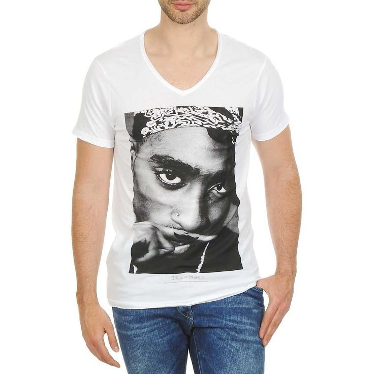 Mens Clothing – UK Size:S M L XL XXL XXXL – Eleven Paris TUPAC M White