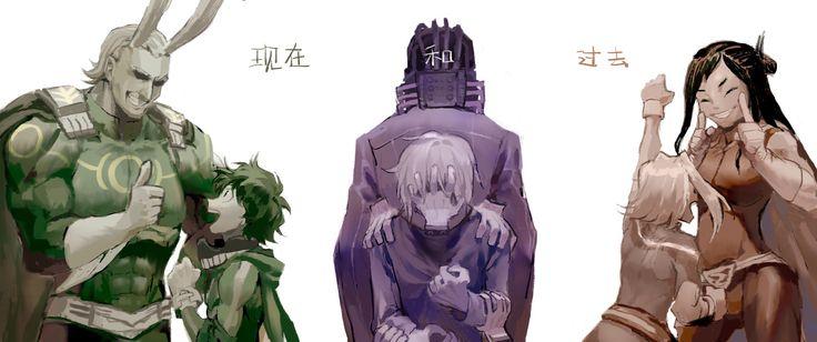 Boku no Hero Academia || All Might, Midoriya Izuku, One For All, Shigaraki Tomura, Toshinori Yagi, Shimura Nana.