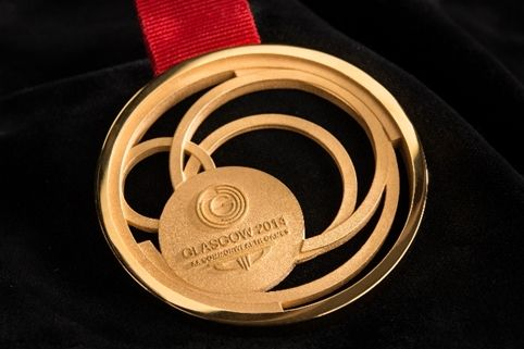 Commonwealth Games 2014 gold medal - designed by Jeweller, Jonathan Boyd and the team at Glasgow School of Art..