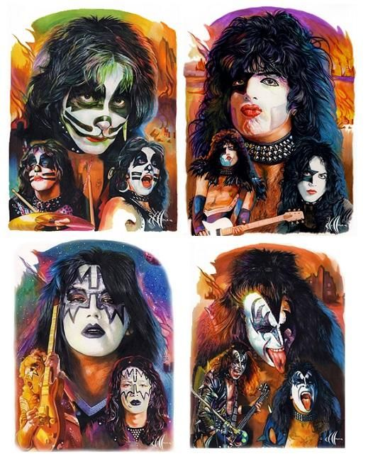 Thanks to Chris Hoffman for sharing his early KISS art with us! Great work!