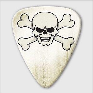 5 x Grover Allman Retro Series Skull & Crossbones Guitar Picks *NEW* Bag of 5