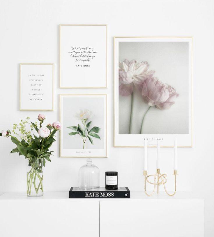 Inspiration mode och botanisk tavelvägg. Posterstore.se