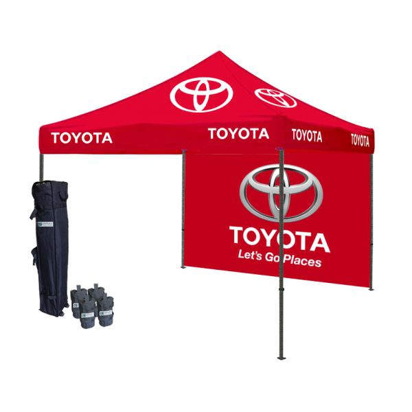 Logo printed tent package draws the special attention at trade shows and sure to increase the traffic of your business. Tent depot offers different types of logo Printed tent package you can choose as per your business requirements. Logo printed tents are extremely light in weight and easy to carry. These logo printed tent gives nice chance to stay cool in the shade.