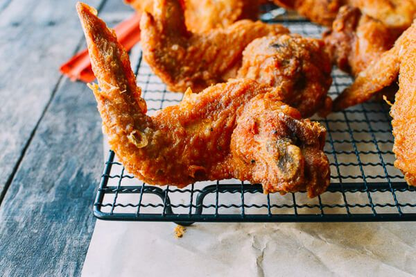 Fried Chicken Wings, Takeout Style, by thewoksoflife.com