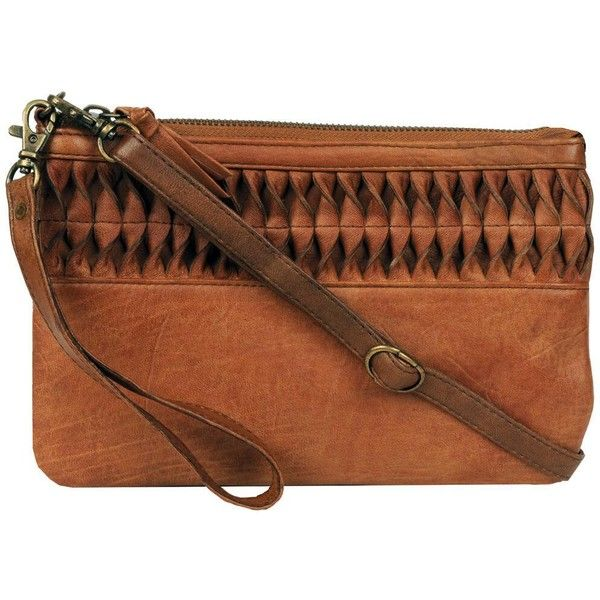 Wilsons Leather Genuine Leather Crossbody w/ Front Pleating ($70) ❤ liked on Polyvore featuring bags, handbags, shoulder bags, brown leather handbags, hand bags, handbags crossbody, leather man bags and leather crossbody