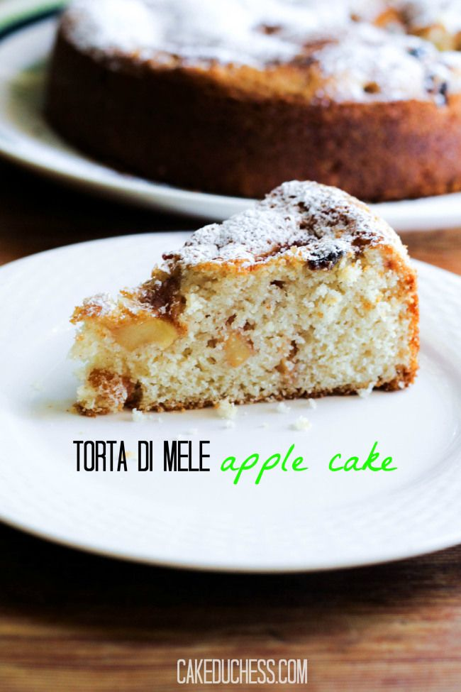 Apple Cake (Torta di Mele) is an #Italian #baking #recipe on cakeduchess.com. So easy to make and just perfect for fall!