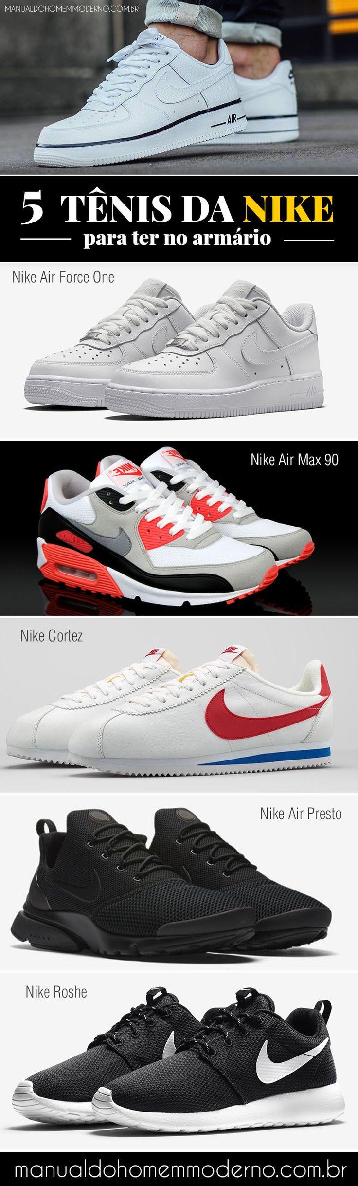 5 tênis masculinos da Nike para ter no armário.