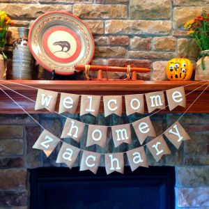 Welcome Home Party | Kraft Paper Banner