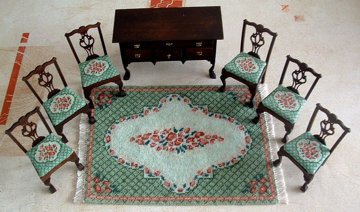 Unlike #WovenCarpets, #EmbroideryCarpets are not formed on a #loom. Their pattern is established by the application of stitches to a cloth (often linen) base.