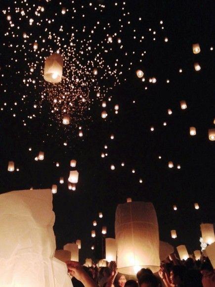 The Yi Peng Lantern Festival, Chiang Mai, Thailand