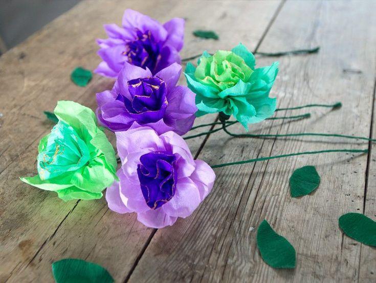 DIY – Fold blomster af crepepapir