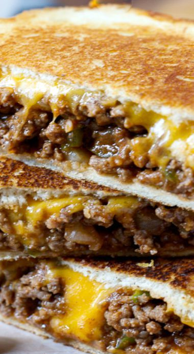 When I was a kid my favourite food was a grilled cheese and I never heard of a sloppy joe grilled cheese