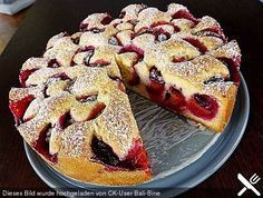 """Pflaumenkuchen nach Mutti, ein tolles Rezept - or- Plum cake like Mom's a great recipe (don't forget your """"Google translate"""" !)"""