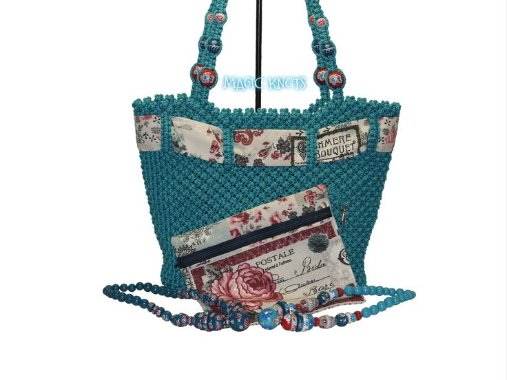 Macrame bag  https://www.etsy.com/listing/501729464/3in1-turquoise-macrame-set-macrame-bag?ref=related-5