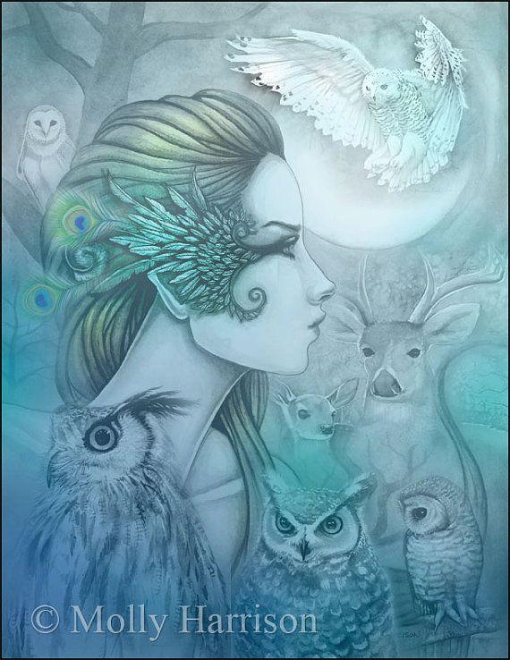 Espíritu de Artemisa 2 diosa griega Diana por MollyHarrisonArt