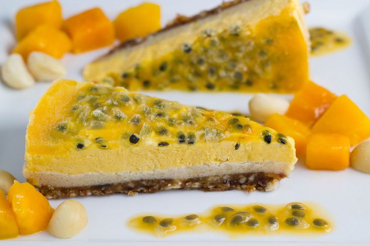 This Mango + Passionfruit Cheesecake is the perfect dessert for the warmer  months that are ahead of us here in Australia. Even better, is that it is  gluten, dairy and refined sugar free. WINNING!! This dessert is one of the  many that you can find in my ecookbook BecomingSweet - Say Yes To Dessert  Again.