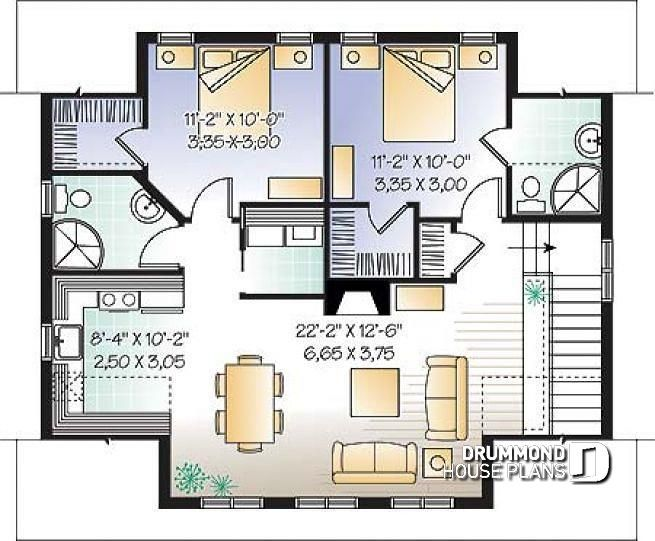 2nd level Two-bedrooms garage apartment, 2 shower rooms ...