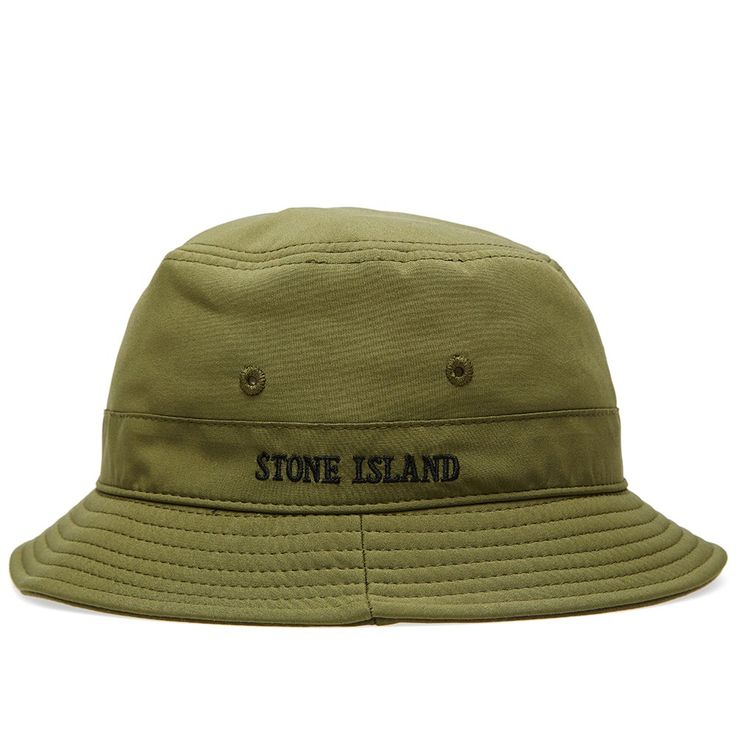 Utilising the Italian brand's innovative technology, this classic bucket hat is constructed from a polyester blend Soft Shell fabric and is finished with a variety of logo detailing.  Polyester Blend Fleecebacked Construction Stitched Vents Embroidered Detail Logo Tab Art No: 611599322-V0058