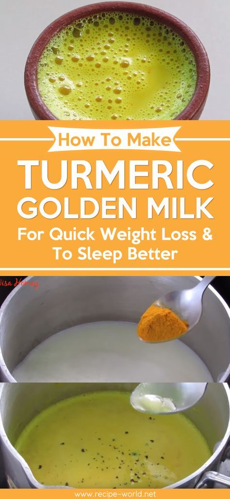 How To Make Turmeric Golden Milk - For Quick Weight Loss & To Sleep Better ♨ http://recipe-world.net/how-to-make-turmeric-golden-milk-for-quick-weight-loss-to-sleep-better/?i=p