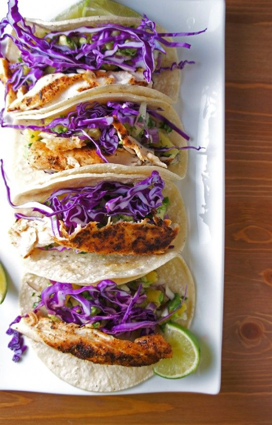 Taco with grilled codfish