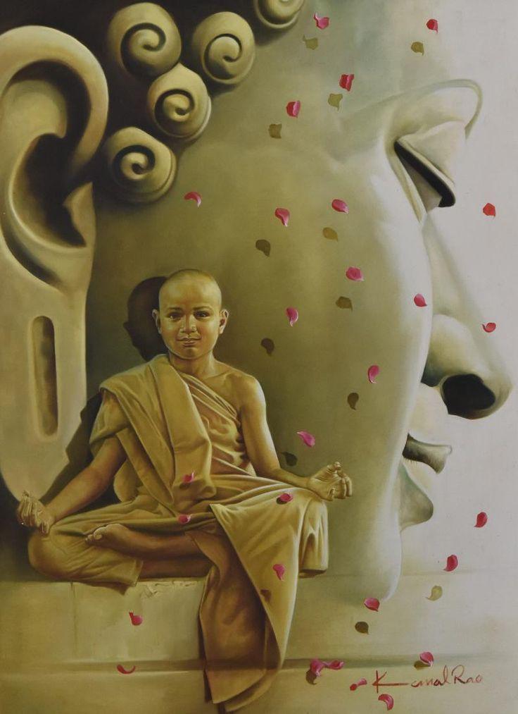 Buddha Petals by Kamal Rao