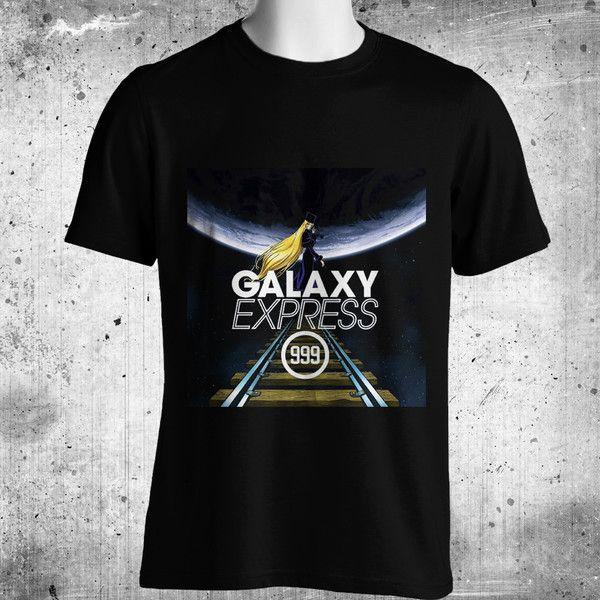 Galaxy Express 999 Anime Black T-Shirt FREE SHIPPING