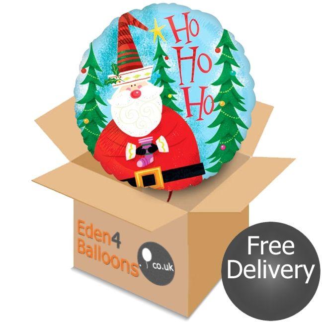 Santa Claus Balloon in a Box