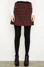 Cooperative Tartan Skirt in Red at Urban Outfitters