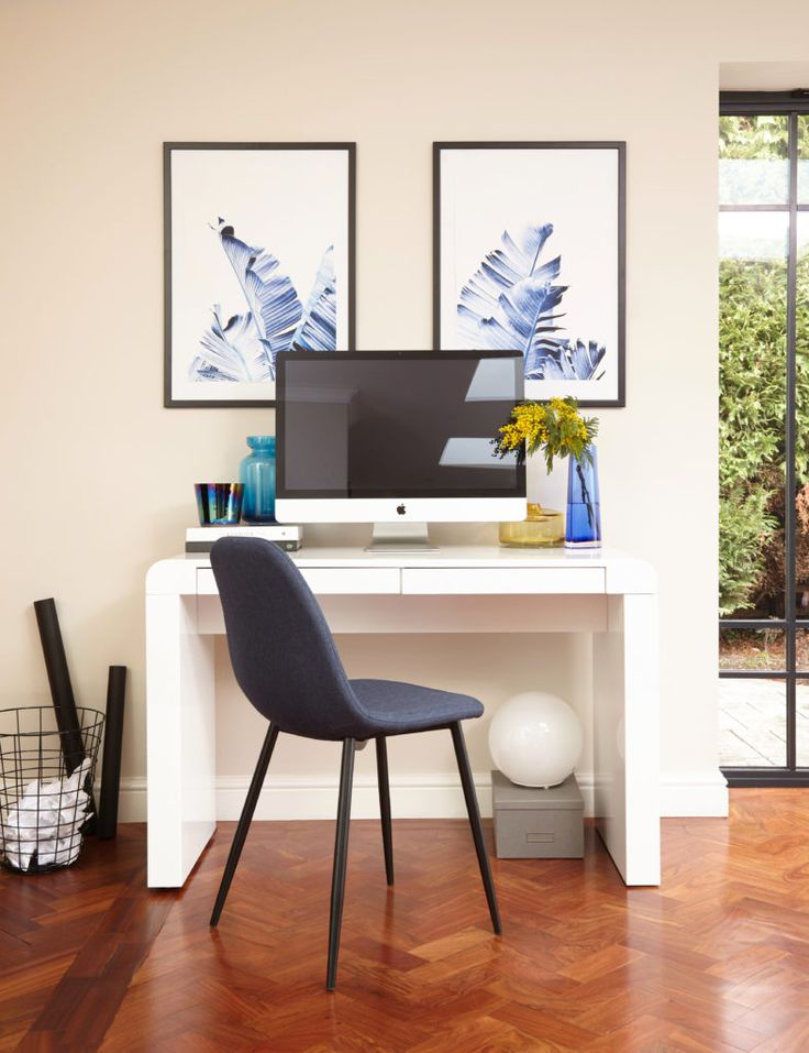 Working at home never looked so good thanks to the Fern White Gloss Desk.