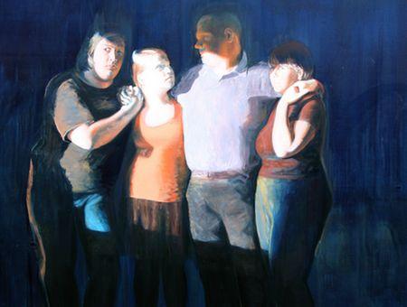 Hombres 2008-2010, olio su tela, Dora Bendixen http://musapietrasanta.it/content.php?menu=artisti