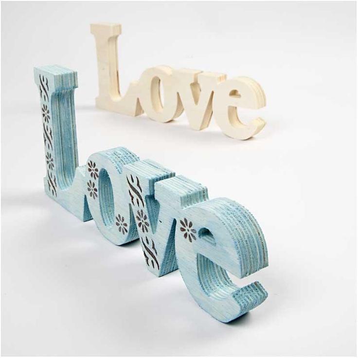 Decoratie Woord, 23x10 cm, Love, 1 stuk