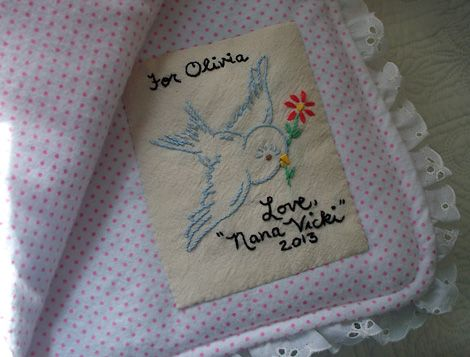 quilt label - Turkey Feathers blog