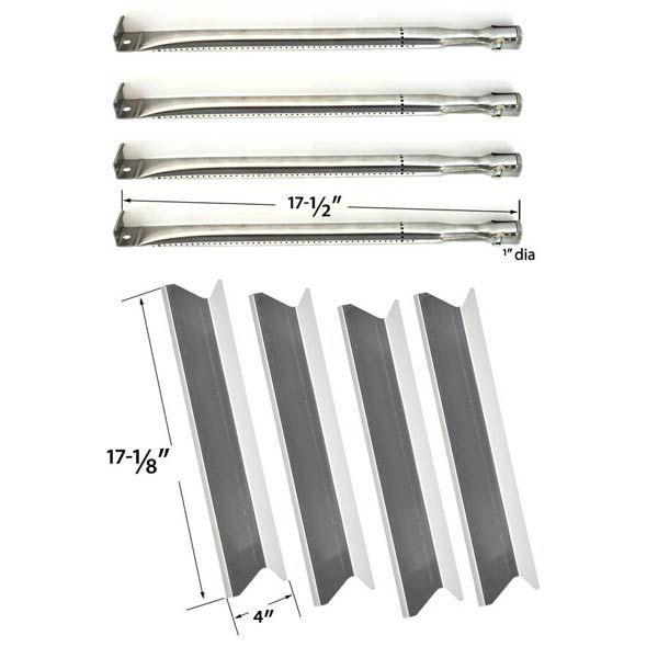 BBQTEK GSC3219TA, GSC3219TA, Inglewood, 1662907 Gas Grill Repair Kit Includes 4 Stainless Steel Burners and 4 Stainless Heat Plates …
