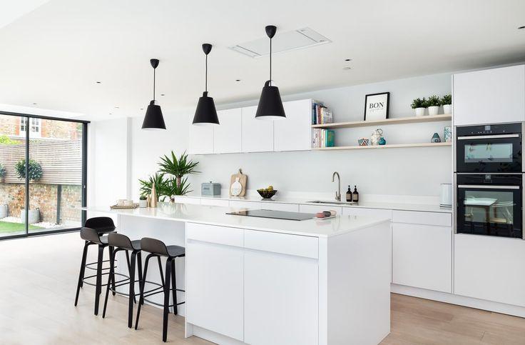 Minimalist White Kitchen In 2020 Modern Kitchen Uk White Kitchen White Kitchen London