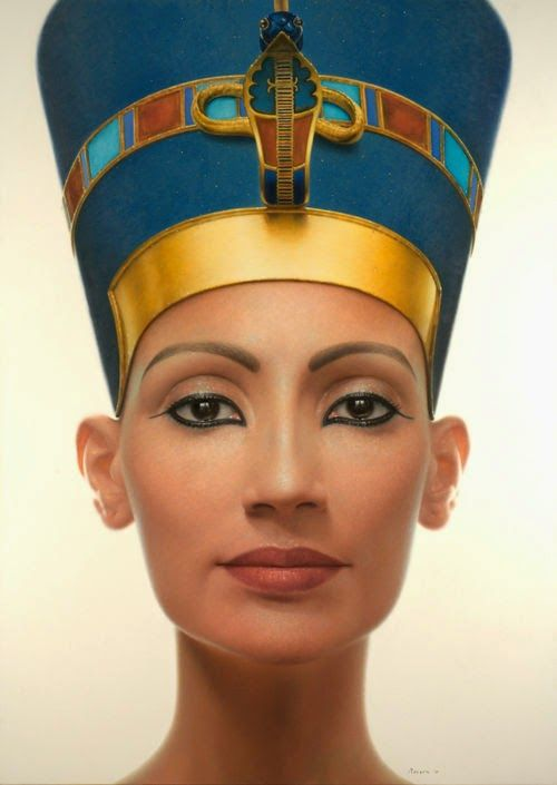 Queen Nefertiti's Crown | Queen Nefertiti Contemporary Portrait by Rossin Fine Art