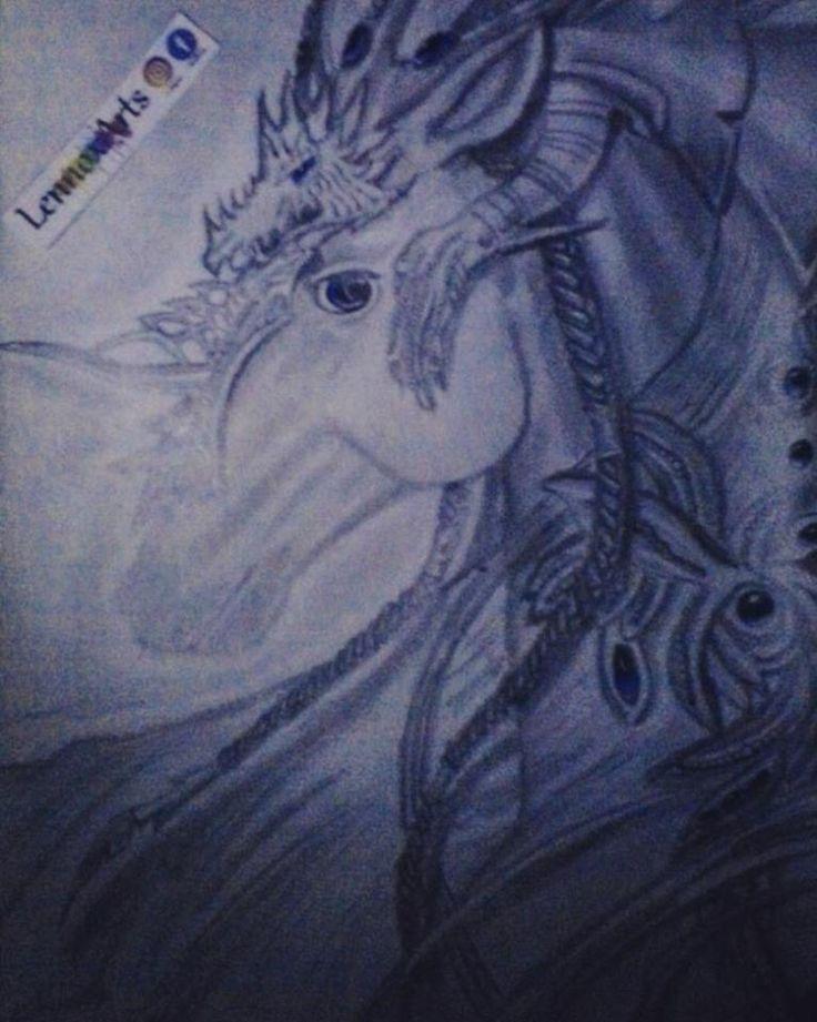 Hace un par de meses, mala calidad de fotografia, sin luz, sin flash #Arts #Art #Drawing #Horse