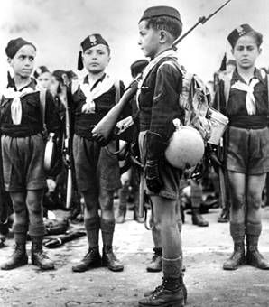 Ballila boys. The Ballila was Mussolini's equivalent of the Hitler Youth--though definitely not as widespread.