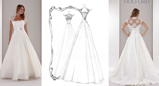 Ellie Dress – Pen | Pretty as a Picture. Gorgeous sketch of wedding dress by Ailbhe Ryan of Pretty as a Picture. #weddingdress #weddingdresssketch #beautifuldress #prettyasapicture #weddingdressportrait