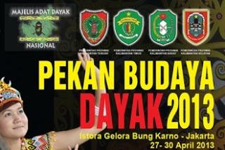 ACARA PEKAN BUDAYA DAYAK 2013 | Icah Banjarmasin