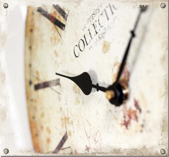 Väggur Rom - Klocka i gammaldags stil #clock #time #shabbychic