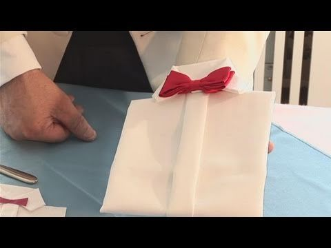How To Make A Dress Shirt Napkin, My Crafts and DIY Projects