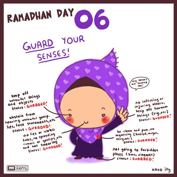 Ramadan cartoon reminders by Illy, member of brotherhood arts - http://www.brotherhoodarts.com