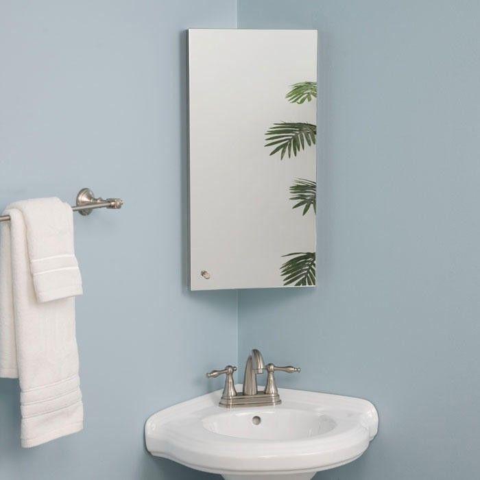 cabinet medicine cabinets corner mirror downstairs bathroom small
