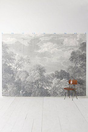 Etched Arcadia Mural Wallpaper | Anthropologie.euPowder Room, Dining Room, Wall Murals, Living Room, Arcadia Murals, Anthropologie Com, Etchings Arcadia, Trees Murals, Bedrooms Wall