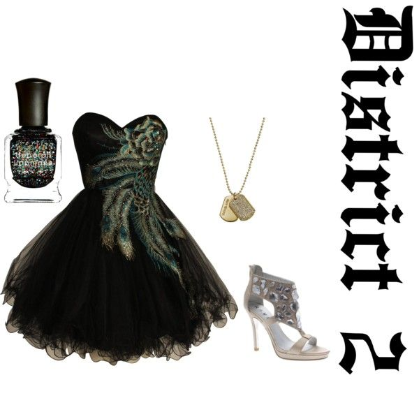 DIstrict 2, created by hunger-games-fashion on Polyvore  Love this dress