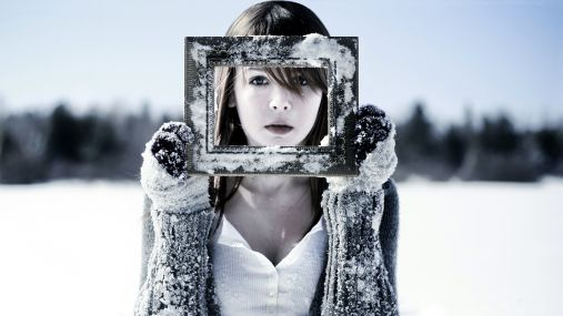 Photo Framed Girl Face