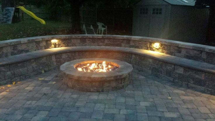 CST Patio and Fire Pit in NJ by Sun Viking Land Design.