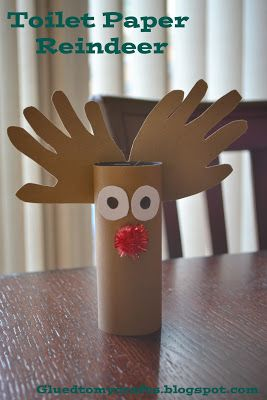 20 Winter Themed Toddler Craft Collection, including a Paper Roll Reindeer.