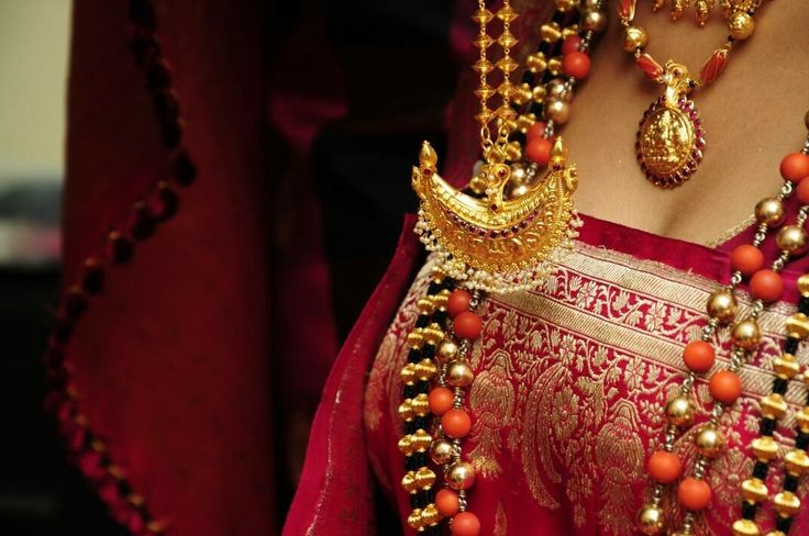 The traditional #Kodava #jewelry #gold #coralbead Another picture from my wedding. #southindian #coorg #coorgbride #